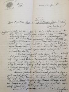 Rákóczifalvai Rákóczi-kastéllyal kapcsolatok iratok